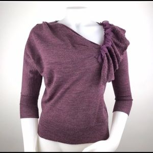 Knitted and Knotted Anthropologie Oblique Sweater